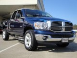 2008 Patriot Blue Pearl Dodge Ram 1500 Big Horn Edition Quad Cab 4x4 #27544743
