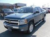 2010 Blue Granite Metallic Chevrolet Silverado 1500 LT Crew Cab 4x4 #27544924