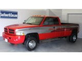 2000 Flame Red Dodge Ram 3500 ST Extended Cab Dually #27544755