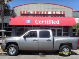 2008 Graystone Metallic Chevrolet Silverado 1500 LT Crew Cab #27625226