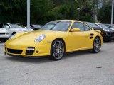 2007 Speed Yellow Porsche 911 Turbo Coupe #276243