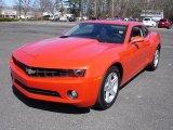 2010 Inferno Orange Metallic Chevrolet Camaro LT Coupe #27624986
