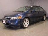 2007 Royal Blue Pearl Honda Civic EX Sedan #27625688