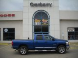 2008 Electric Blue Pearl Dodge Ram 1500 Big Horn Edition Quad Cab 4x4 #27625314