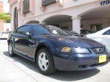 2002 True Blue Metallic Ford Mustang V6 Coupe #27625336