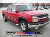 2004 Victory Red Chevrolet Silverado 1500 Z71 Crew Cab 4x4 #27625817