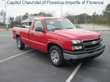 2007 Victory Red Chevrolet Silverado 1500 Classic Work Truck Regular Cab #27626241