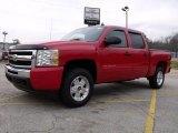 2010 Victory Red Chevrolet Silverado 1500 LT Crew Cab 4x4 #27625556