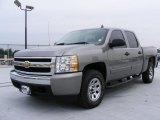 2008 Graystone Metallic Chevrolet Silverado 1500 LS Crew Cab 4x4 #27625992