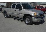 2005 Silver Birch Metallic GMC Sierra 2500HD SLT Extended Cab 4x4 #27626048