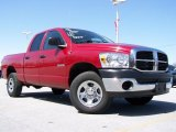 2008 Inferno Red Crystal Pearl Dodge Ram 1500 SXT Quad Cab 4x4 #27650832