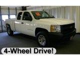 2008 Summit White Chevrolet Silverado 1500 Work Truck Extended Cab 4x4 #27692290