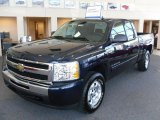 2010 Imperial Blue Metallic Chevrolet Silverado 1500 LT Extended Cab 4x4 #27726536