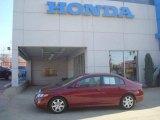 2007 Tango Red Pearl Honda Civic LX Sedan #27663342