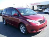 2011 Salsa Red Pearl Toyota Sienna LE #27771239