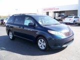 2011 South Pacific Blue Pearl Toyota Sienna LE #27771240