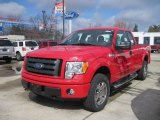 2010 Vermillion Red Ford F150 STX SuperCab 4x4 #27771416