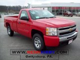 2010 Victory Red Chevrolet Silverado 1500 LT Regular Cab 4x4 #27771328