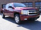 2008 Deep Ruby Metallic Chevrolet Silverado 1500 LT Crew Cab 4x4 #27804572