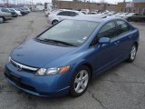 2007 Atomic Blue Metallic Honda Civic EX Sedan #27804966