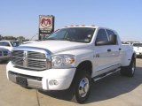 2008 Bright White Dodge Ram 3500 Laramie Mega Cab 4x4 Dually #27804765
