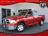 2010 Inferno Red Crystal Pearl Dodge Ram 1500 SLT Crew Cab #27804624