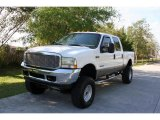 2002 Oxford White Ford F250 Super Duty Lariat Crew Cab 4x4 #27804806