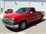 2004 Victory Red Chevrolet Silverado 1500 Regular Cab #27805146
