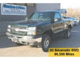 2003 Dark Green Metallic Chevrolet Silverado 1500 LS Regular Cab 4x4 #27804810