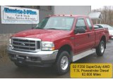 2002 Toreador Red Metallic Ford F250 Super Duty XLT SuperCab 4x4 #27804815