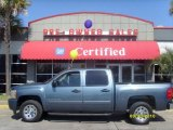 2008 Blue Granite Metallic Chevrolet Silverado 1500 LS Crew Cab #27804668