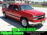 2006 Victory Red Chevrolet Silverado 1500 LS Crew Cab #27804844