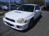Aspen White Subaru Impreza in 2002