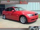 2006 Electric Red BMW 3 Series 325i Sedan #27850933