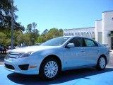2010 Light Ice Blue Metallic Ford Fusion Hybrid #27850465