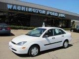 2003 Cloud 9 White Ford Focus LX Sedan #27850782