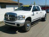 2008 Bright White Dodge Ram 3500 SLT Mega Cab 4x4 Dually #27850621