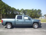 2010 Blue Granite Metallic Chevrolet Silverado 1500 LS Crew Cab #27850824