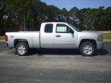 2010 Sheer Silver Metallic Chevrolet Silverado 1500 LT Extended Cab 4x4 #27850826