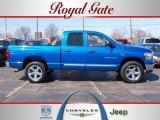 2007 Electric Blue Pearl Dodge Ram 1500 Big Horn Edition Quad Cab 4x4 #27850341