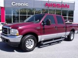 2004 Dark Toreador Red Metallic Ford F250 Super Duty XLT Crew Cab #27850691