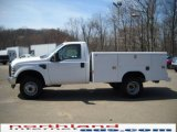 2010 Oxford White Ford F350 Super Duty XL Regular Cab 4x4 Chassis #27919666