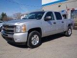 2010 Sheer Silver Metallic Chevrolet Silverado 1500 LT Crew Cab 4x4 #27919671