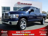 2007 Patriot Blue Pearl Dodge Ram 1500 SLT Quad Cab #27919835