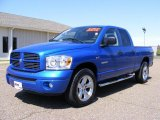 2008 Electric Blue Pearl Dodge Ram 1500 Sport Quad Cab #27920269