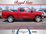 2007 Flame Red Dodge Ram 1500 Big Horn Edition Quad Cab 4x4 #27993050
