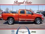 2008 Sunburst Orange Pearl Dodge Ram 1500 Big Horn Edition Quad Cab 4x4 #27993052