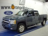 2009 Blue Granite Metallic Chevrolet Silverado 1500 LTZ Extended Cab 4x4 #27993286