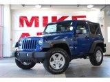 2010 Deep Water Blue Pearl Jeep Wrangler Sport 4x4 #27993300
