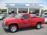 2005 Victory Red Chevrolet Silverado 1500 Z71 Regular Cab 4x4 #27993489